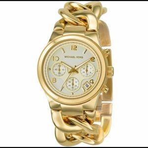 Chain Round Quartz Watch Stainless Elegant Style